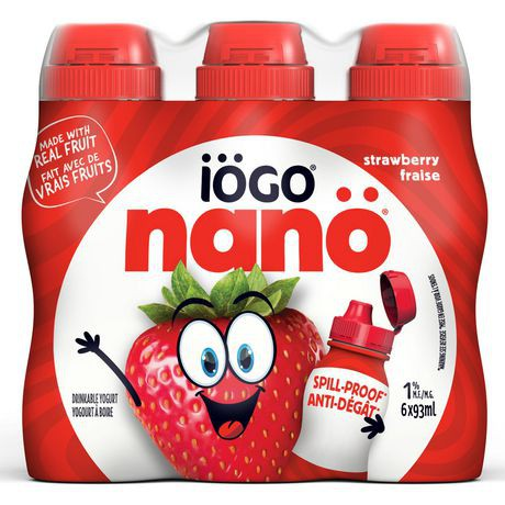 nanö Drinkable Strawberry Yogurt | 6 x 93 mL
