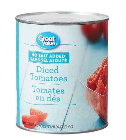 Great Value No Salt Added Diced Tomatoes