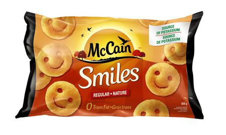 Smiles shaped potatoes