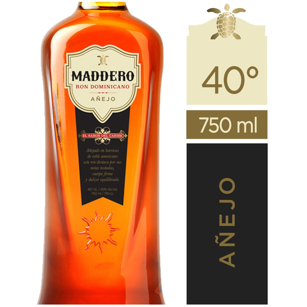 Ron añejo 40° Botella 750 ml
