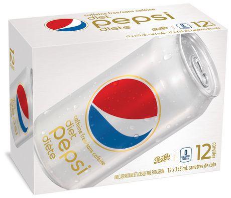 Caffeine free diet cola soft drink