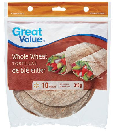 """Great Value Whole Wheat Tortillas 7"""""""
