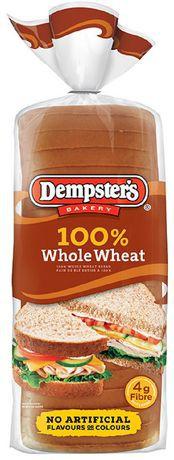 Sliced bread 100% whole wheat 675 g