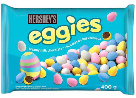 Eggies milk chocolate eggs in candy shell