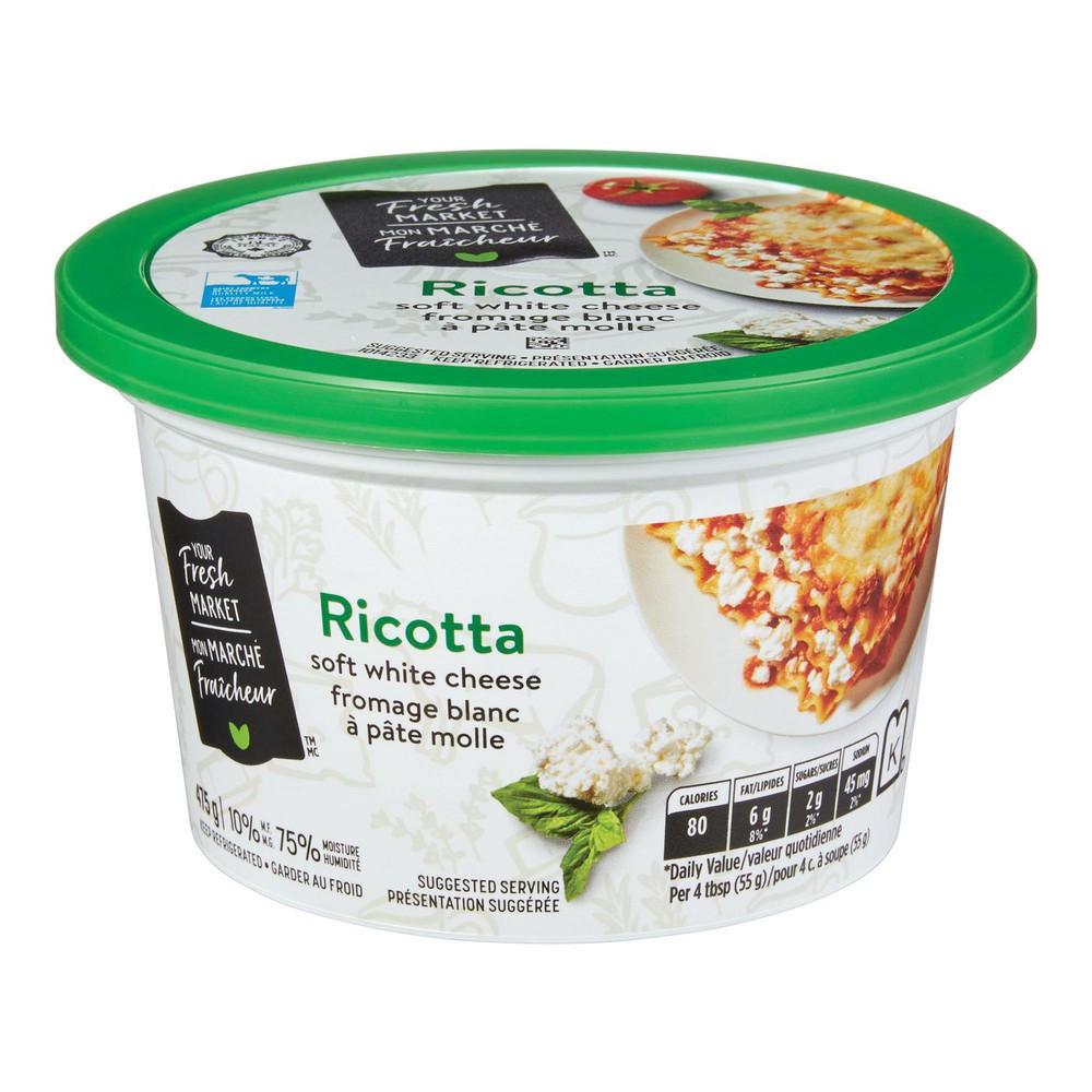Ricotta soft white cheese