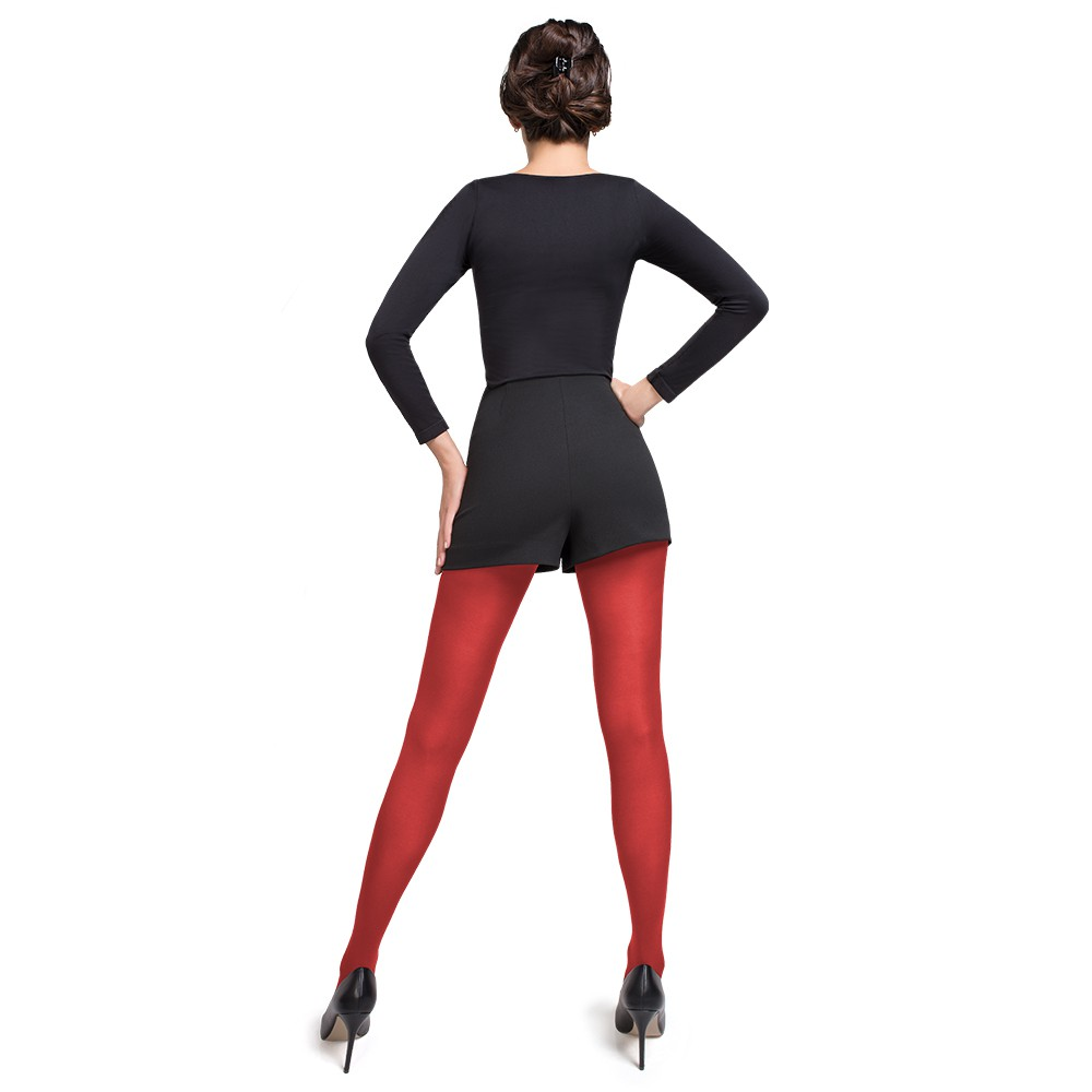 Panty hivernal cod.1311 rojo italiano noche