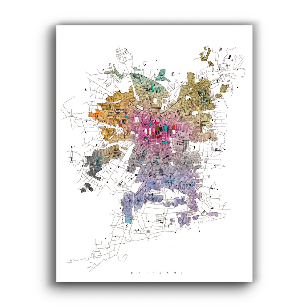 Mapa de santiago artístico