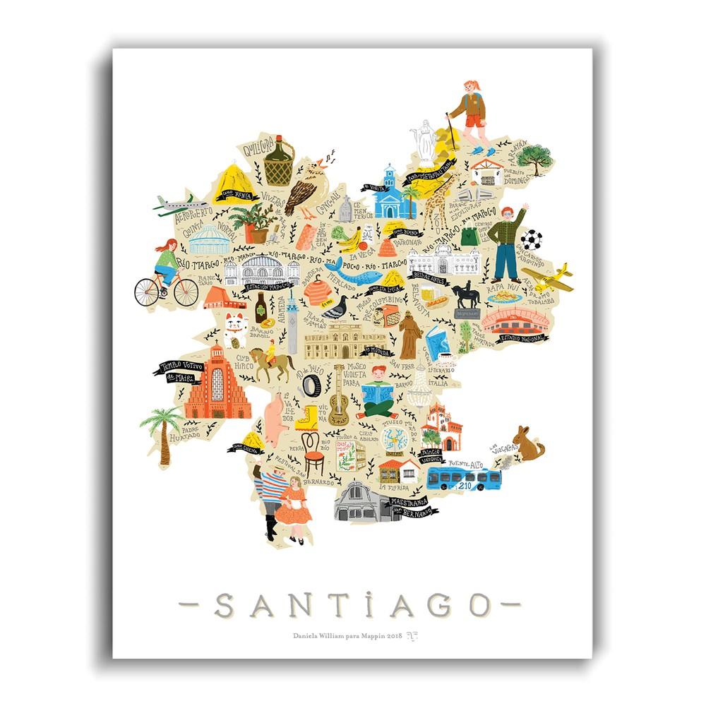 Santiago Ilustrado - Lámina