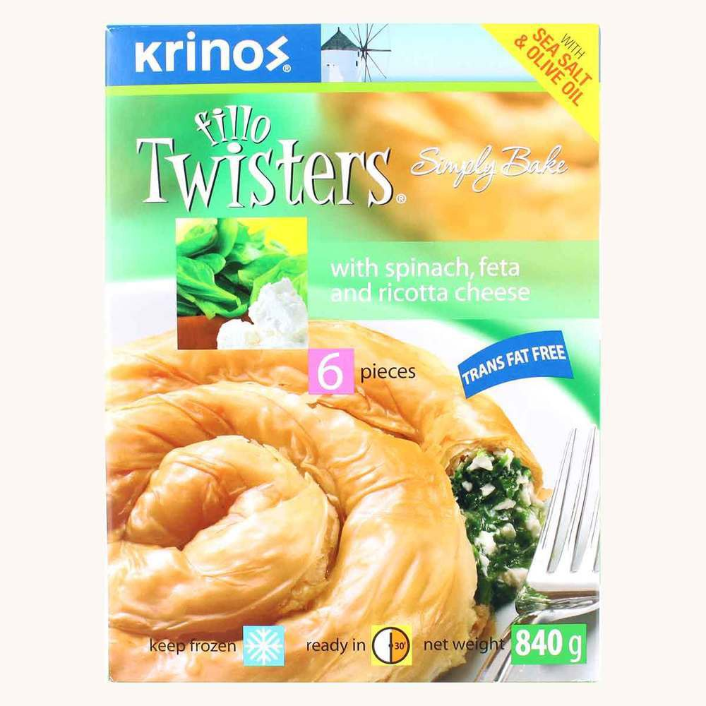 Krinos Fillo Twisters Spinach & Feta Cheese