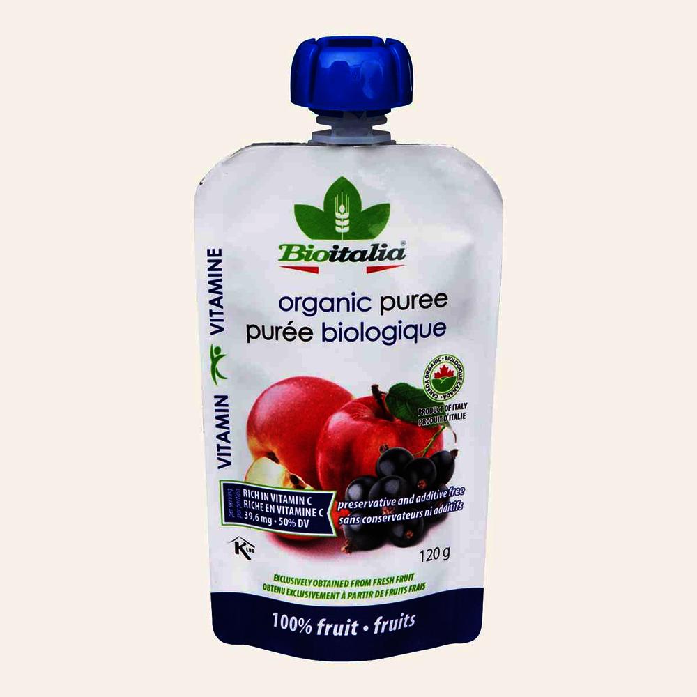 Bioitalia Organic Puree Apple/Blackcurrant