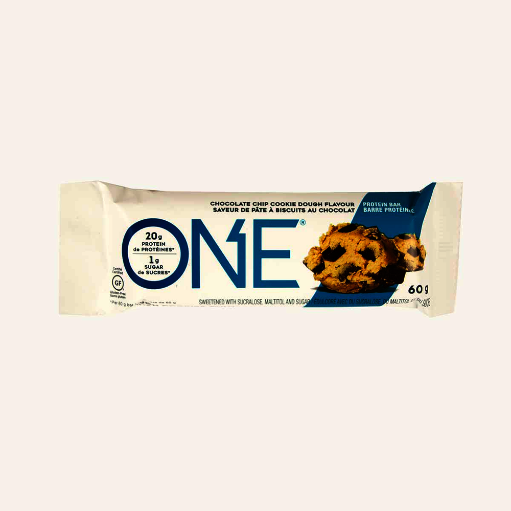 One Protein Bar Chocolate Chip Cookie Dough Flavour