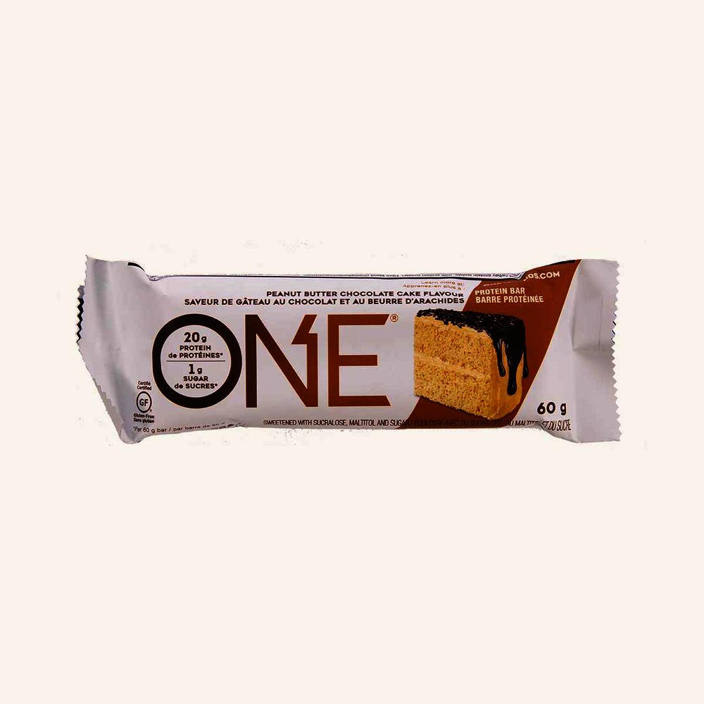 One Protein Bar Peanut Butter Chocolate Cake Flavour