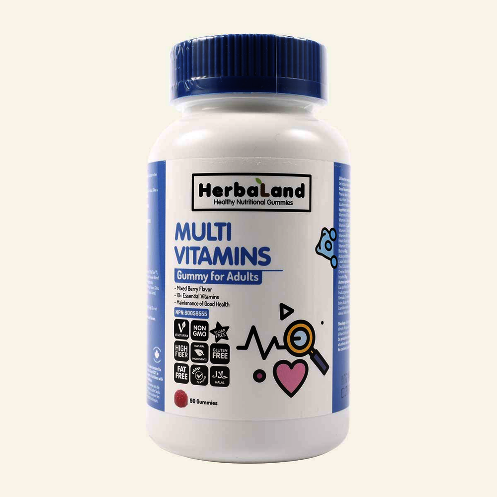 HerbaLand Multi Vitamins Gummy For Adults Mixed Berry Flavour