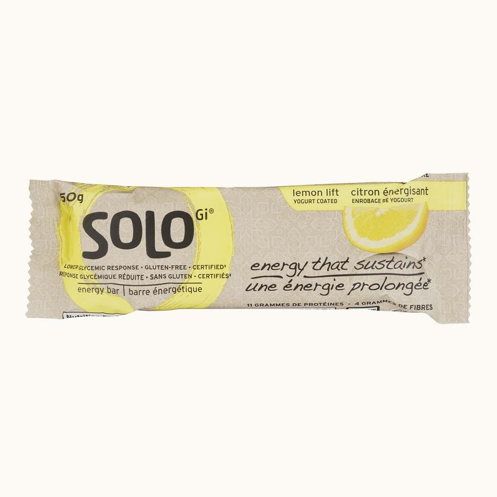 Solo Gi Lemon Lift Yogurt Coated Energy Bar