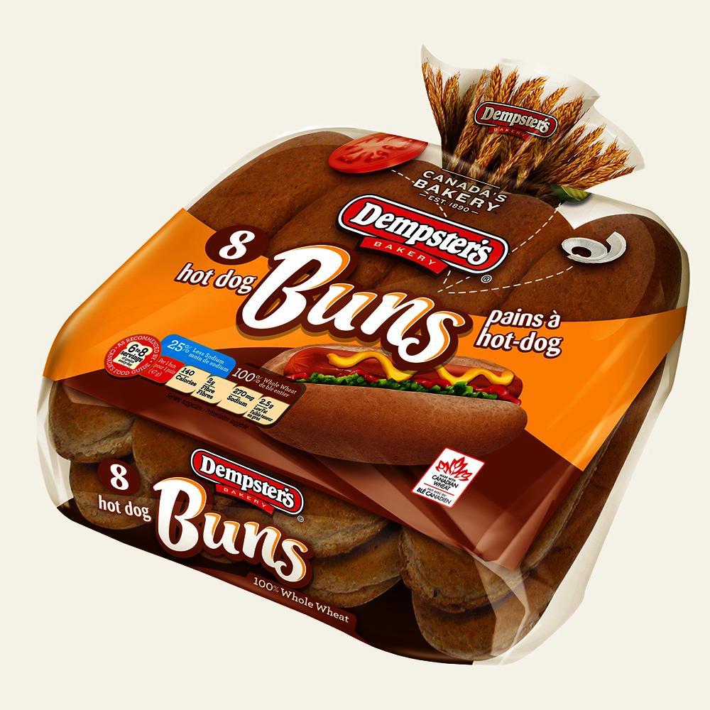 Original whole wheat hot dog buns