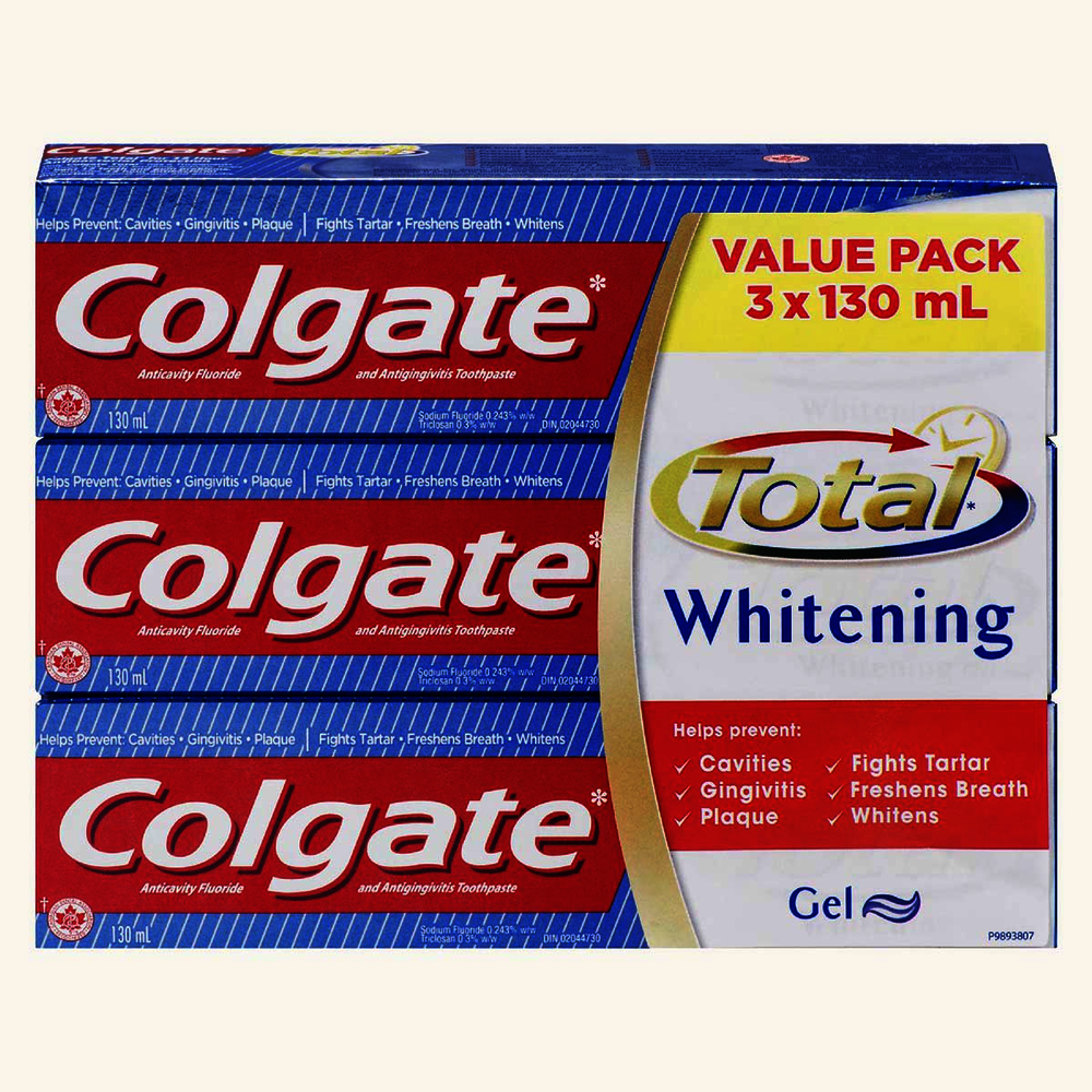 Total whitening gel value pack