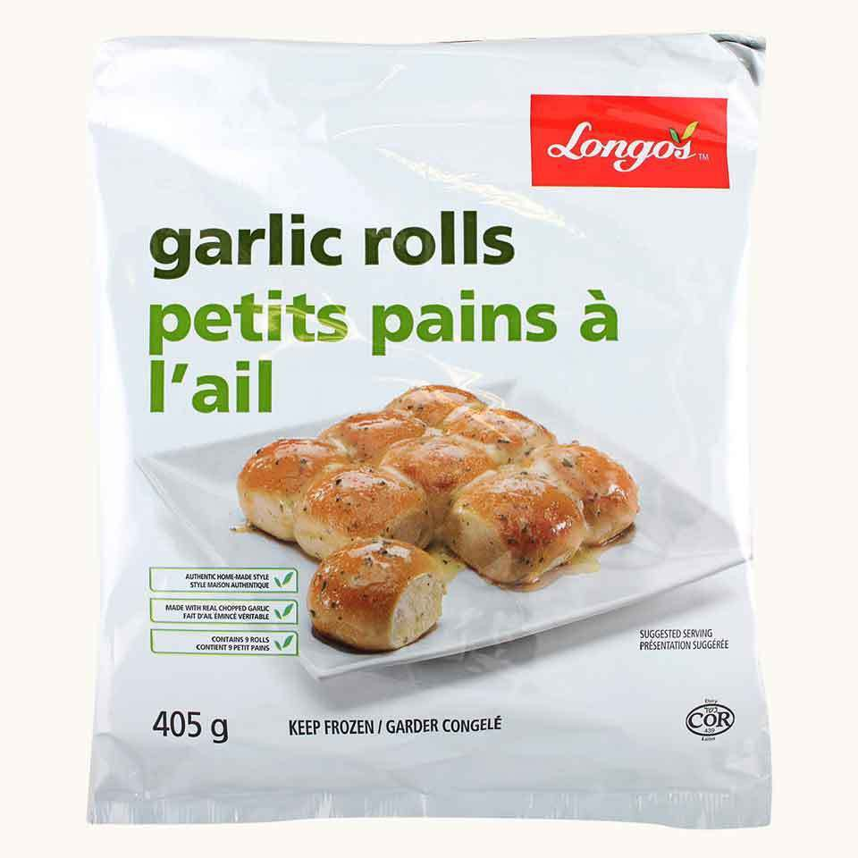 Longo's Frozen Garlic Rolls