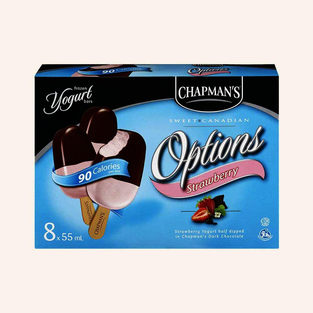 Chapman's Strawberry Yogurt with Dark Chocolate Bar