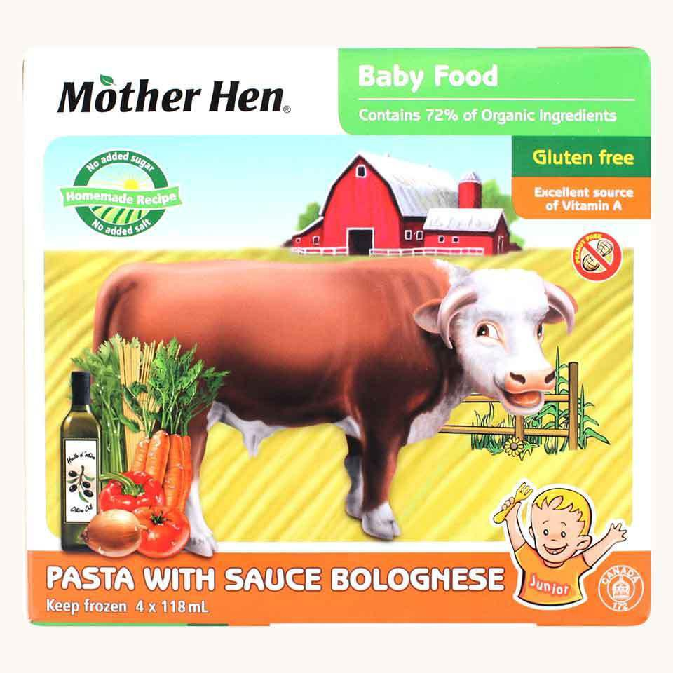 Mother Hen Baby Food Pasta with Bolognese