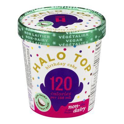 Halo Top Non Dairy Frozen Dessert Birthday Cake