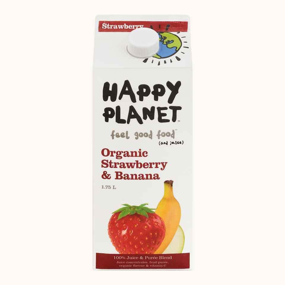 Happy Planet Organic Strawberry & Banana Juice