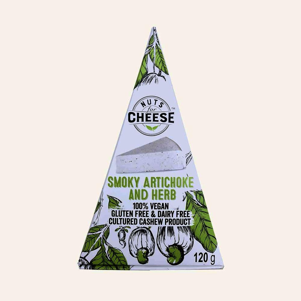 Smoky artichoke & herb cheese alternative