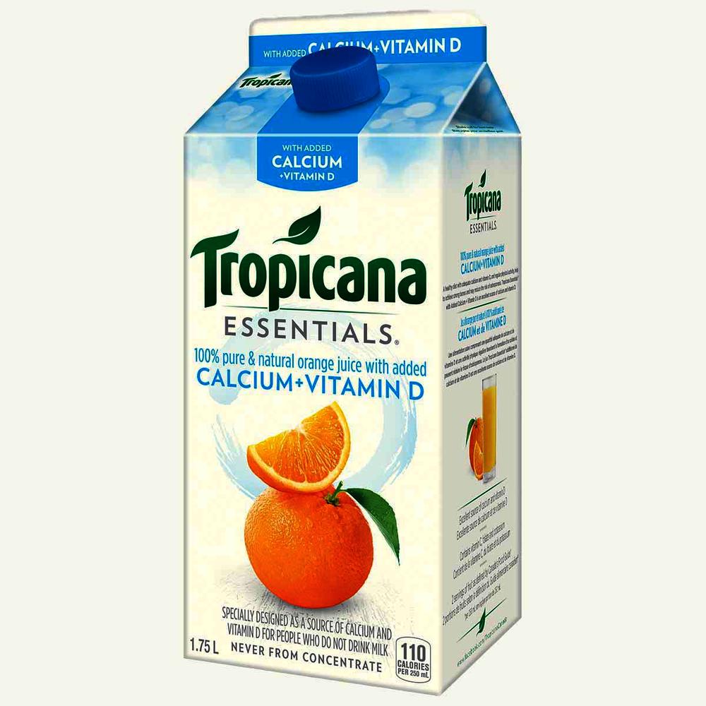 Tropicana Calcium Vitamin C Supplement Without Pulp