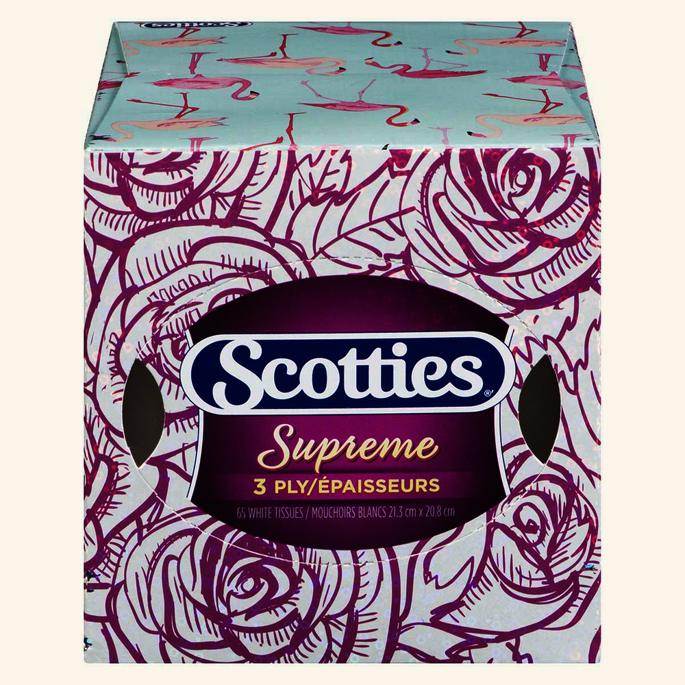 Scotties Supreme 3 Ply Facial Tissue Nature Inspired