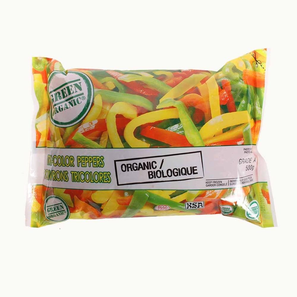 Green Organic Peppers Tri Colour