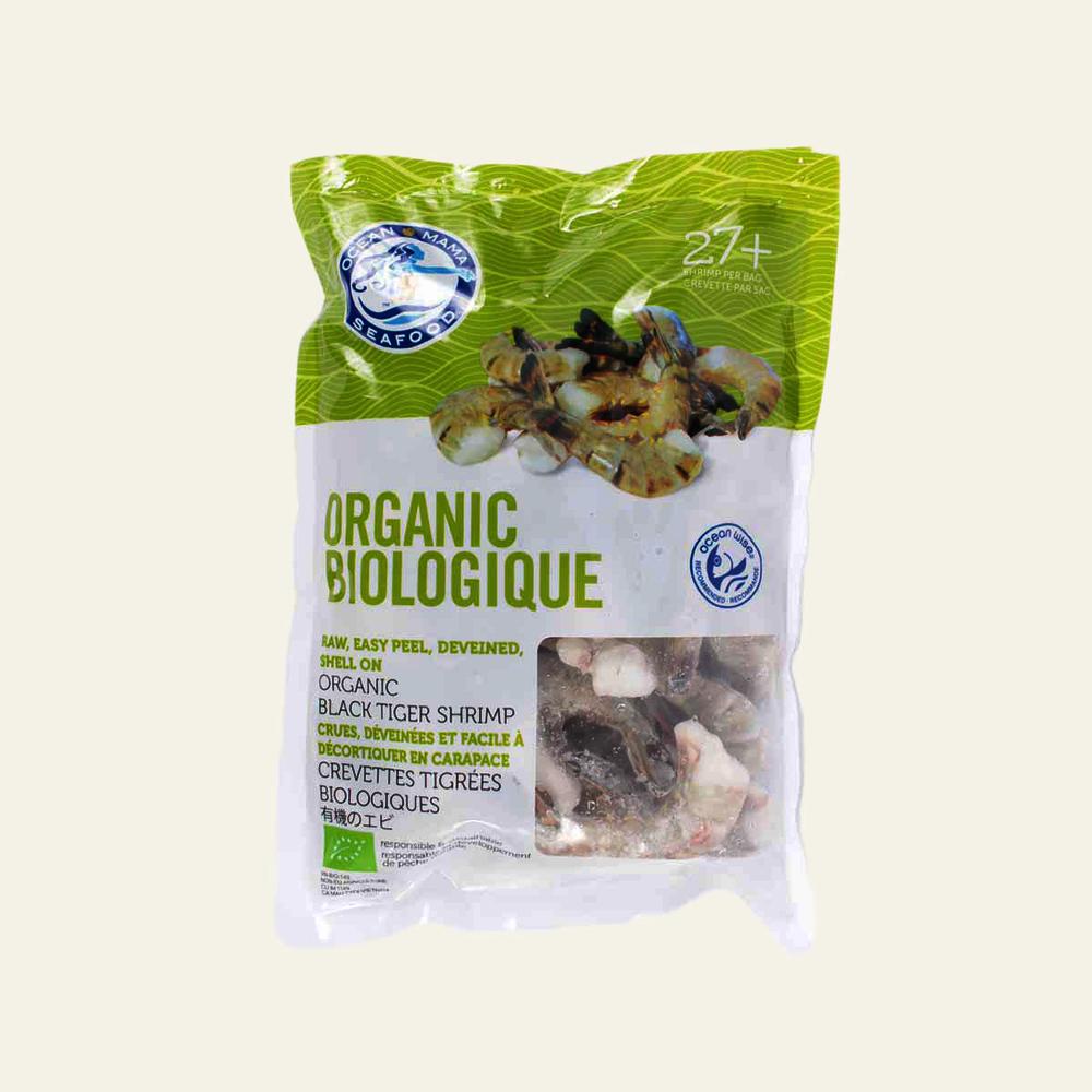 Ocean Mama Organic Raw P/D B-Tiger Shrimp 27 Plus