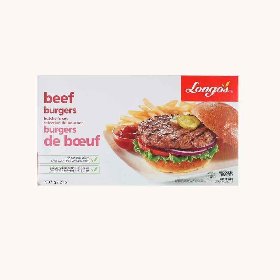 Longo's Beef Burgers Butcher's Cut