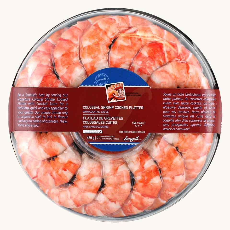 Longo's Signature Colossal Cooked Shrimp Platter with