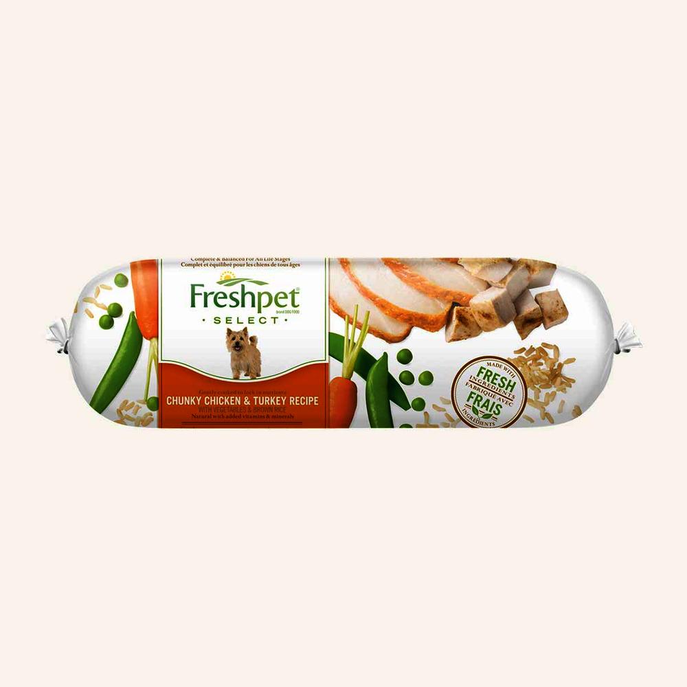 Select slice & serve dog chicken, turk, veg & rice-adult