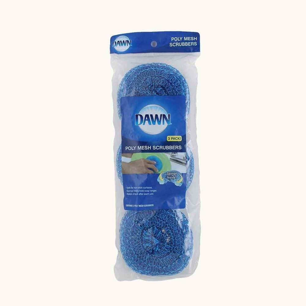 Dawn 100% Copper Mesh Scrubbers, 3 pack