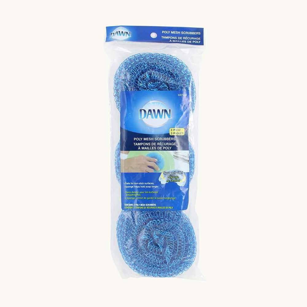 Dawn Poly Mesh Scrubbers, 3 pack