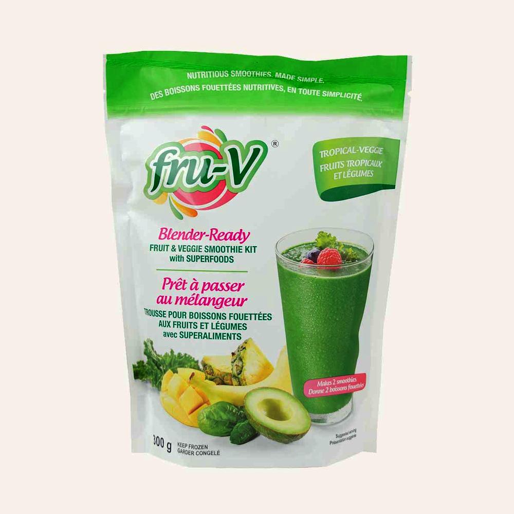 Fru-V Fruit & Veggie Smoothie With Super Foods - Tropical Veggie