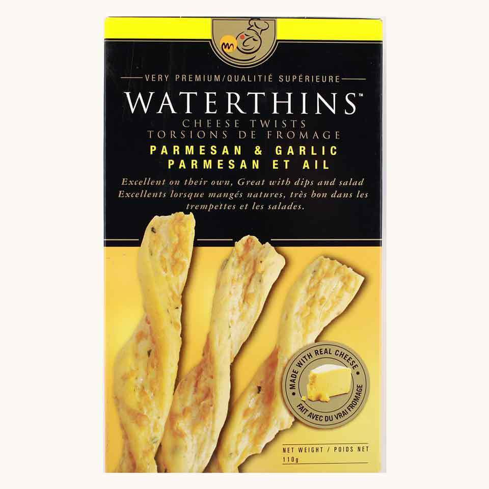 Waterthins Parmesan and Garlic Cheese Twists