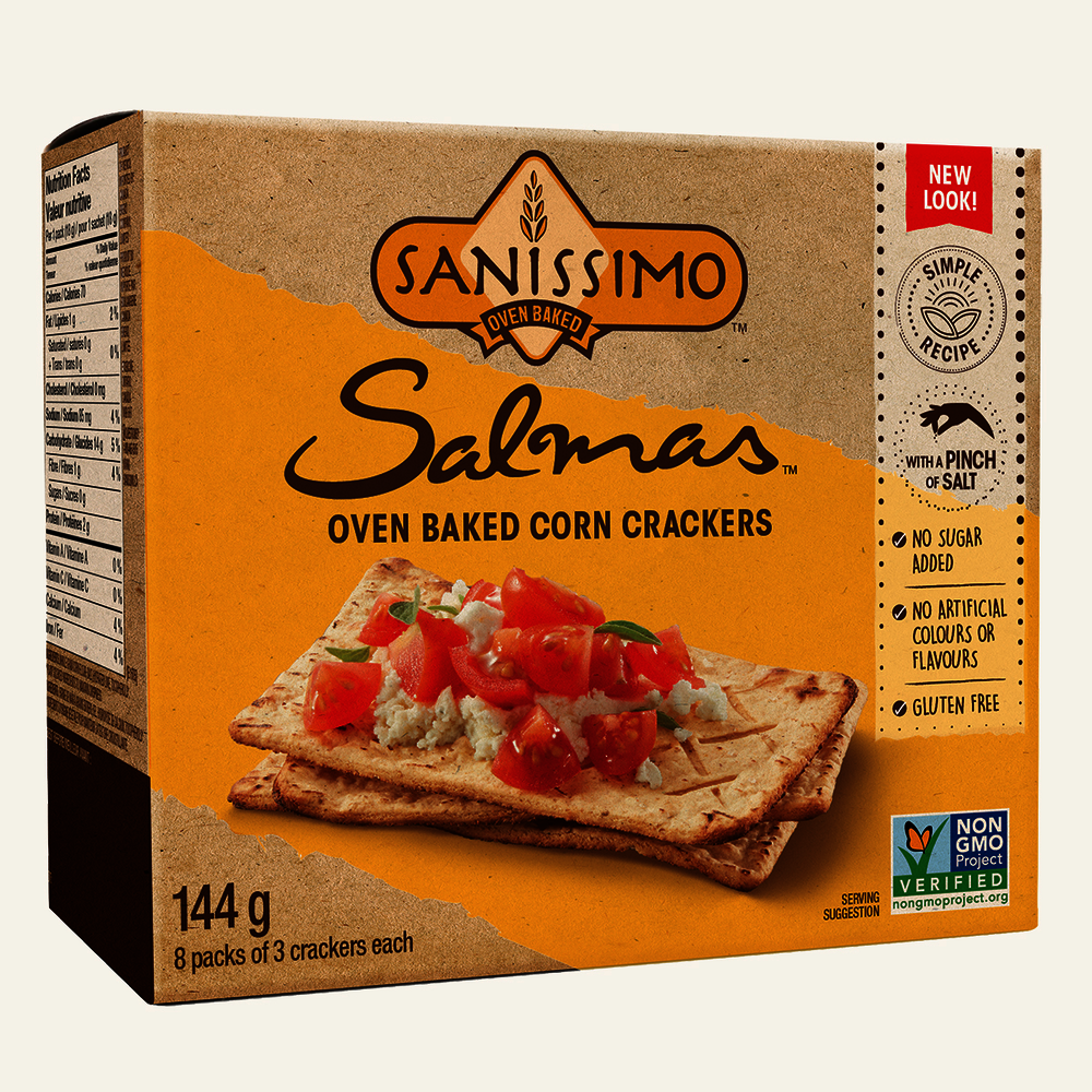 Sanissimo Salmas Oven Baked Corn Crackers