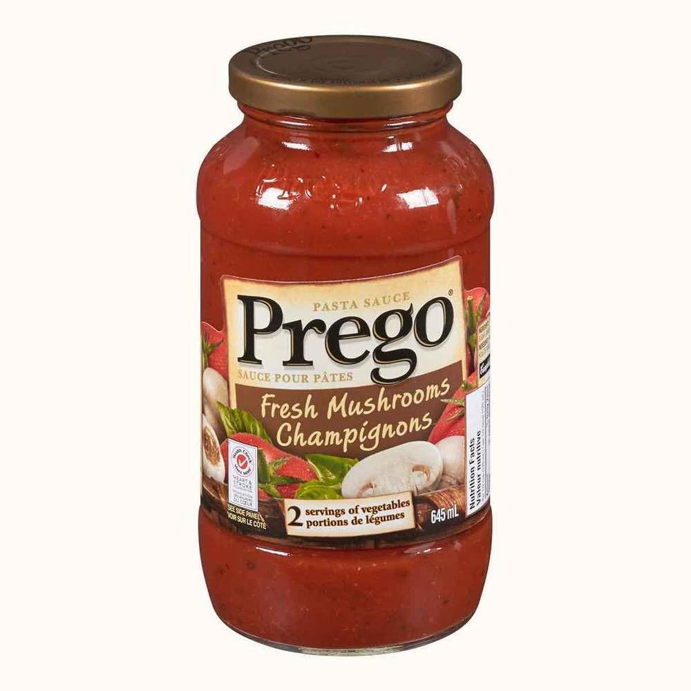 Prego Pasta Sauce: Fresh Mushrooms at