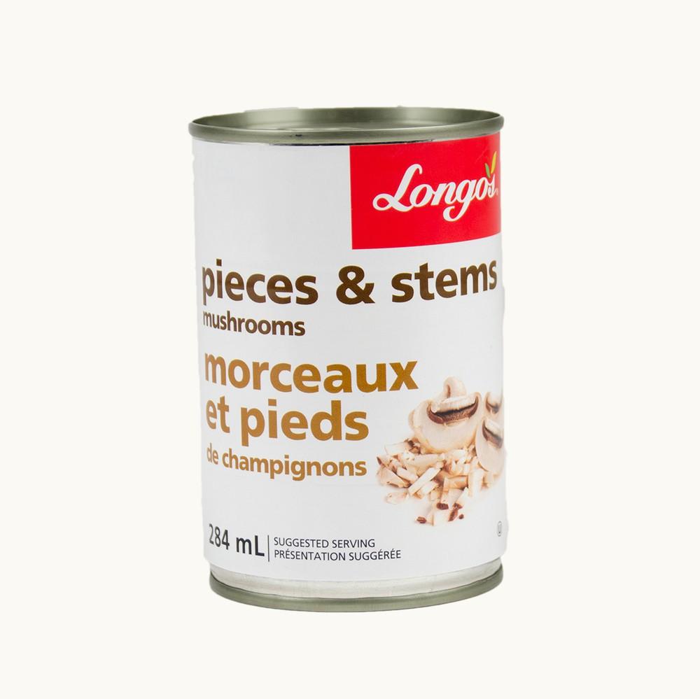 Longo's Pieces & Stems Mushrooms