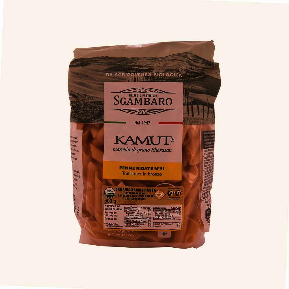Sgambaro Organic Kamut Pasta Penne Rigate