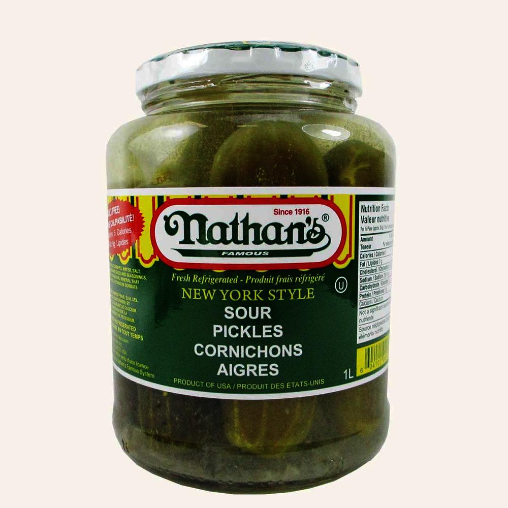 Nathans Half Sour Pickles