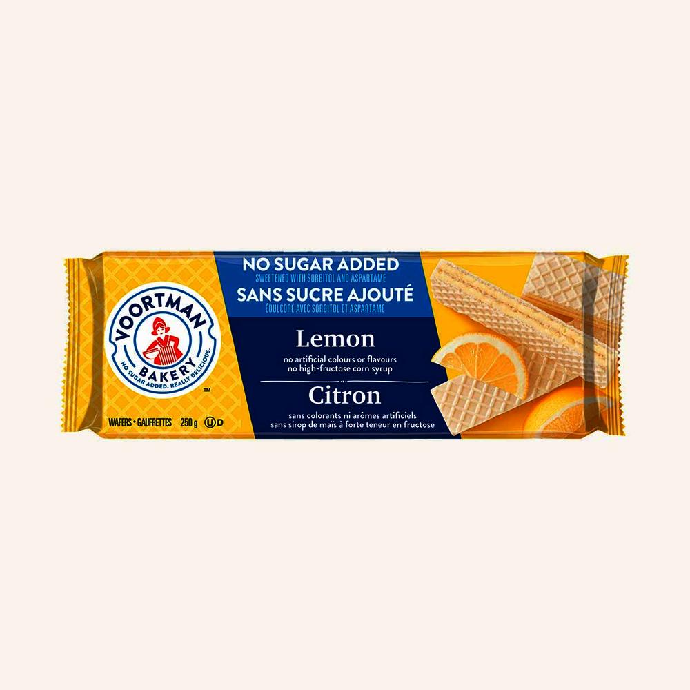 Voortman No Sugar Added Lemon Wafer