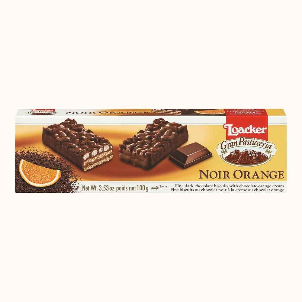 Loacker Gran Paticceria Noir Orange Cookies