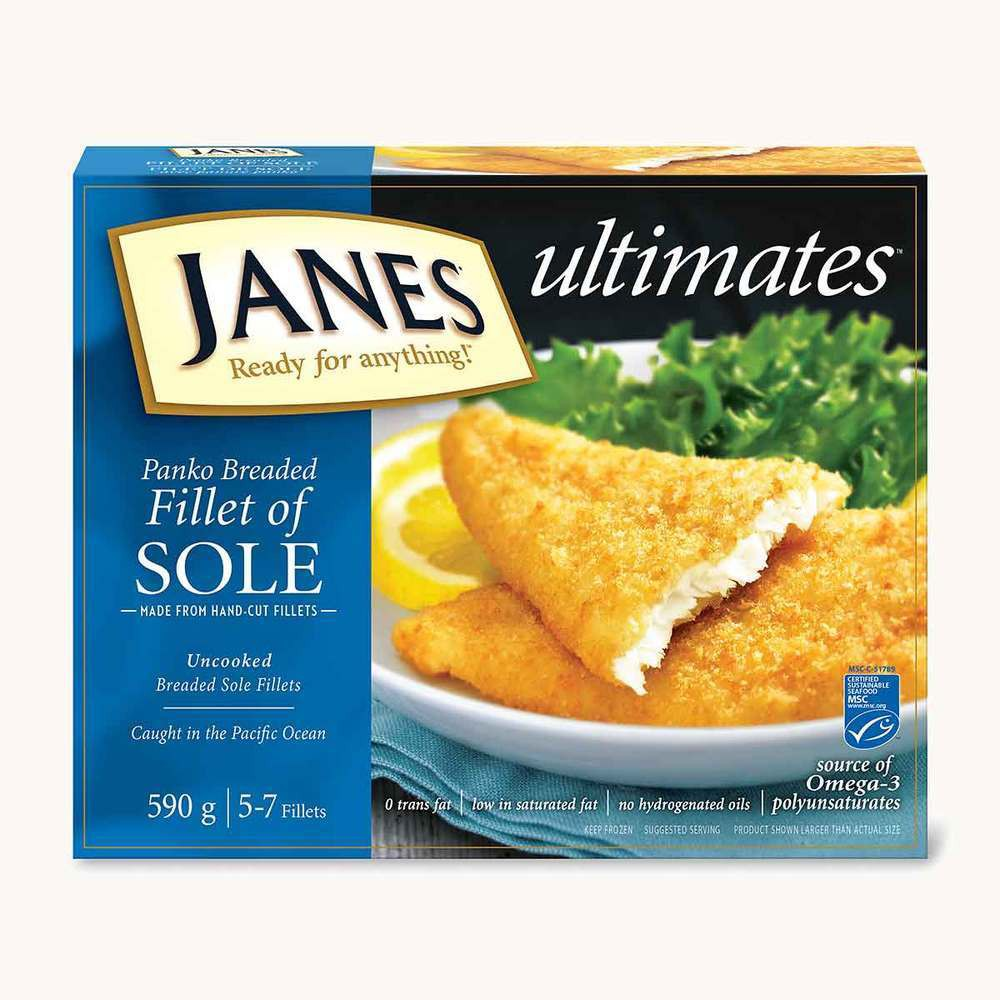 Janes Ultimates Panko Breaded Fillet of Sole