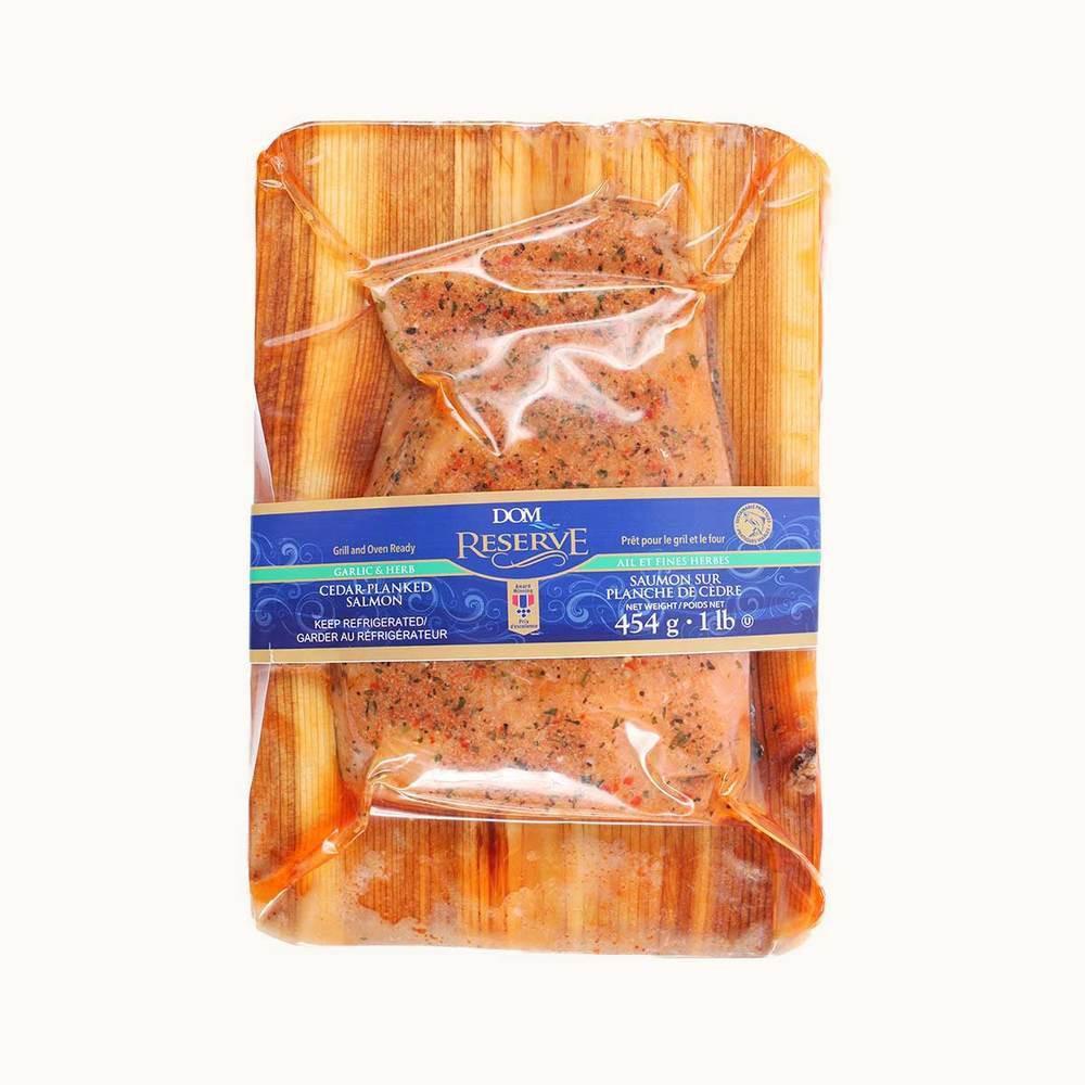 Fresh Cedar Plank Salmon With Herb & Garlic