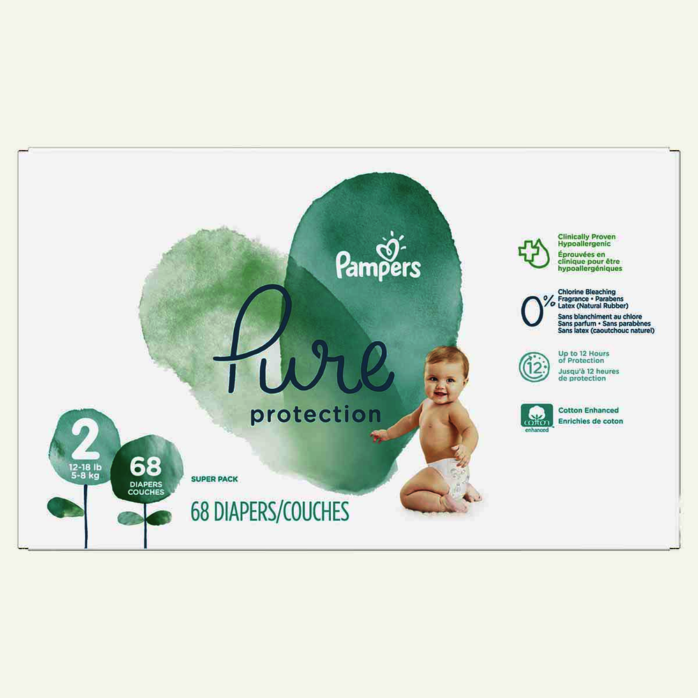 Pampers Pure Protection Diapers Super Pack Size 2