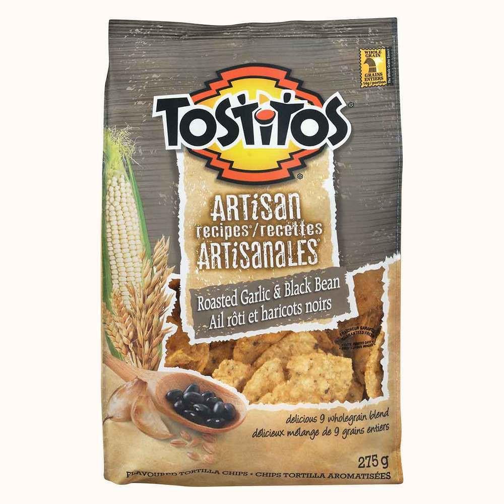 Tostitos Artisan Recipe Tortilla Chips Roasted Garlic and Black Bean