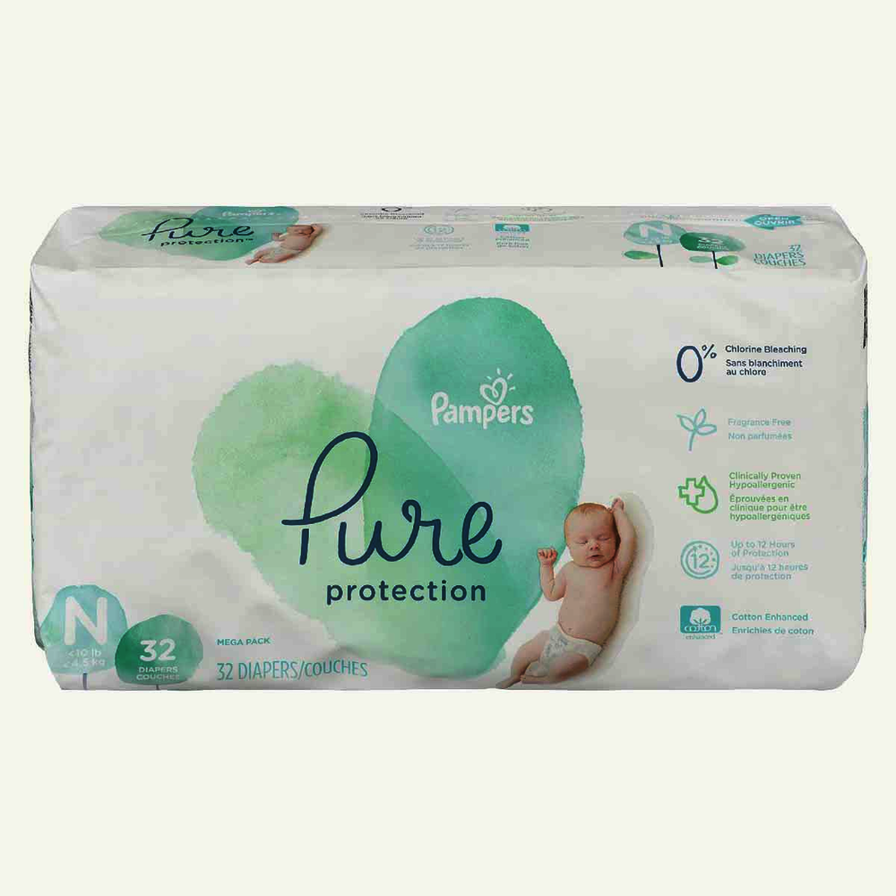 Pampers Pure Protection Diapers Mega Pack Newborn