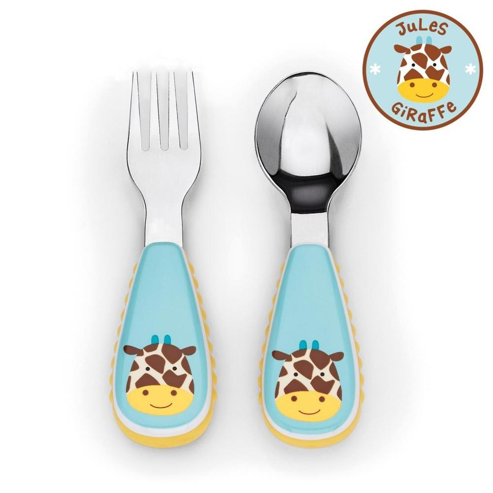 Set cuchara y tenedor zoo - giraffe